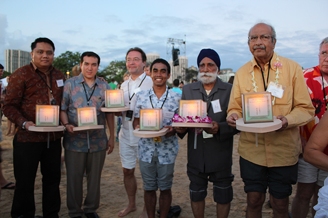 Religious leaders from Singapore with their lantern