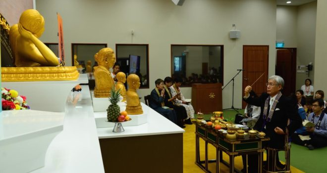 New Nirvana Buddha image enshrined at the Eunos temple